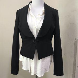 Mock tuxedo style jacket size 6